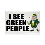 I See Green People Saint Pat's Rectangle Magnet