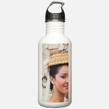 Dominican female dance Sports Water Bottle