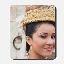 Dominican female dancer in costume Chavo Mousepad
