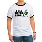 I See Green People Saint Pat's Ringer T