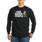 I See Green People Saint Pat's Long Sleeve Dark T-