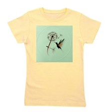 Dandelion and Hummingbird-circle Girl's Tee