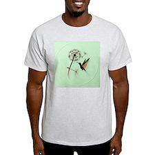 Dandelion and Hummingbird-circle T-Shirt