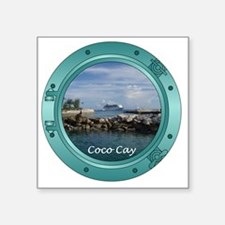 "coco-cay2 Square Sticker 3"" x 3"""