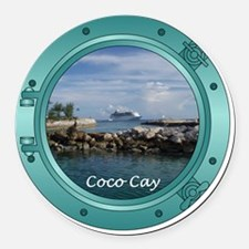 coco-cay2 Round Car Magnet