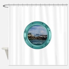 coco-cay2 Shower Curtain