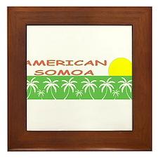 Cute Samoan Framed Tile