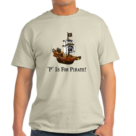 P Is For Pirate Black Only FBC Light T-Shirt