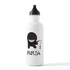 Nunchuck Ninja Black O Water Bottle