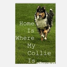where my collie is Postcards (Package of 8)