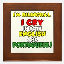 Bilingual English and Portuguese Framed Tile