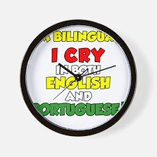 Bilingual English and Portuguese Wall Clock