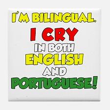 Bilingual English and Portuguese Tile Coaster