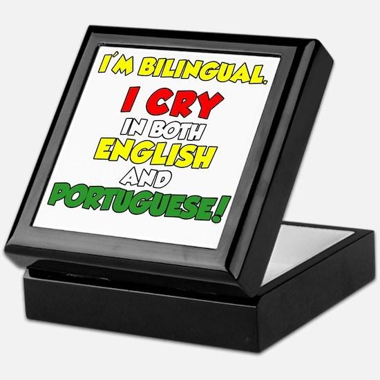 Bilingual English and Portuguese Keepsake Box