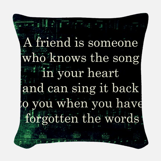 friendpillow Woven Throw Pillow