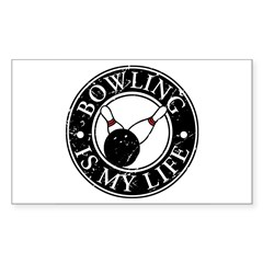 Bowling Is My Life Rectangle Decal