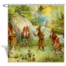 book of gnomes003_SQ2 Shower Curtain