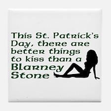 St. Patrick's Blarney Stone Tile Coaster