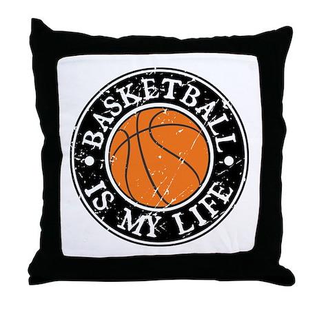 Basketball Is My Life Throw Pillow
