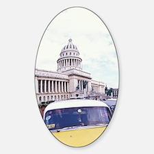 Cuba, Havana. Classic 1950's auto a Sticker (Oval)