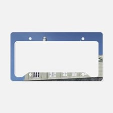 Downtown Colonial Buildingsl  License Plate Holder