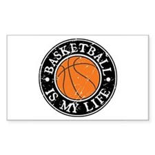 Basketball Is My Life Rectangle Stickers