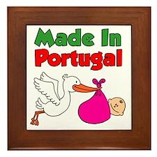 Made In Portugal Girl Framed Tile