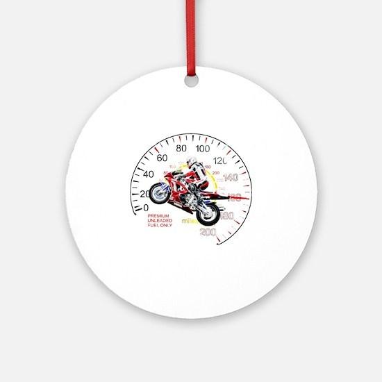 Fractal Speed 2 Round Ornament