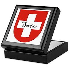 Swiss Flag Crest Shield Keepsake Box