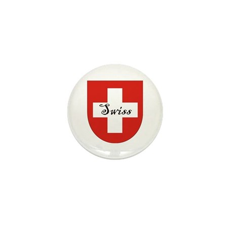 Swiss Flag Crest Shield Mini Button (10 pack)