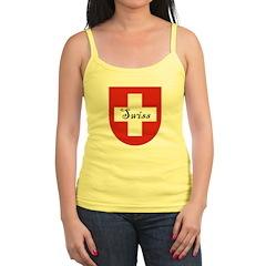 Swiss Flag Crest Shield Jr.Spaghetti Strap