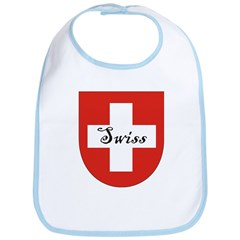 Swiss Flag Crest Shield Bib