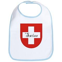 Swiss Flag Crest Shield Bib