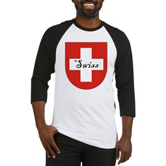 Swiss Flag Crest Shield Baseball Jersey