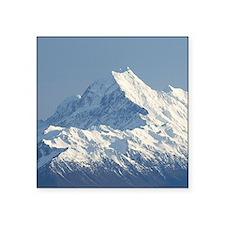 "Aoraki Mount Cook and Lake  Square Sticker 3"" x 3"""