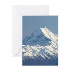 Aoraki Mount Cook and Lake Pukaki, M Greeting Card