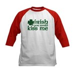 Irish You Would Kiss Me Kids Baseball Jersey