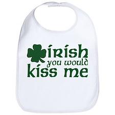 Irish You Would Kiss Me Bib