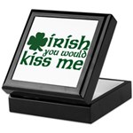 Irish You Would Kiss Me Keepsake Box