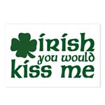 Irish You Would Kiss Me Postcards (Package of 8)