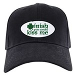 Irish You Would Kiss Me Black Cap