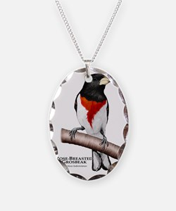 Rose-Breasted Grosbeak Necklace