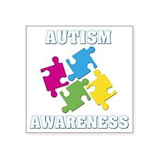 "Autism Awareness Square Sticker 3"" x 3"""