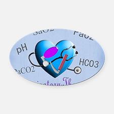rt print 2 blue Oval Car Magnet
