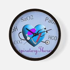 rt print 2 blue Wall Clock