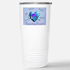 rt print 2 blue Travel Mug