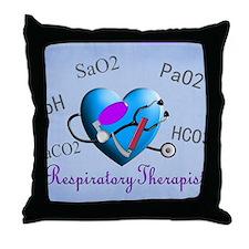 rt print 2 blue Throw Pillow