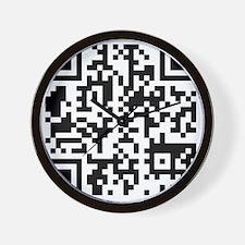 qr10x10 Wall Clock