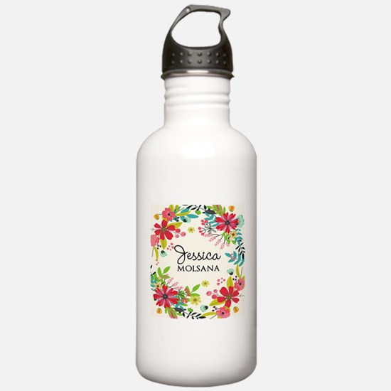 Painted Floral Persona Sports Water Bottle
