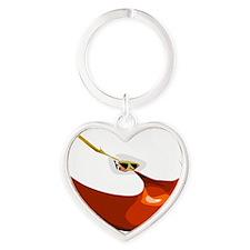 Apple Heart Keychain